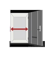 ドアの幅の最低サイズ