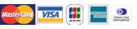 利用可能クレジットカードのロゴ画像 MasterCard VISA JCB American Express Diners Club
